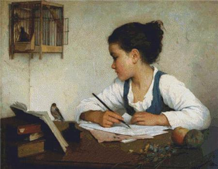 click here to view larger image of Girl Writing, A (chart)