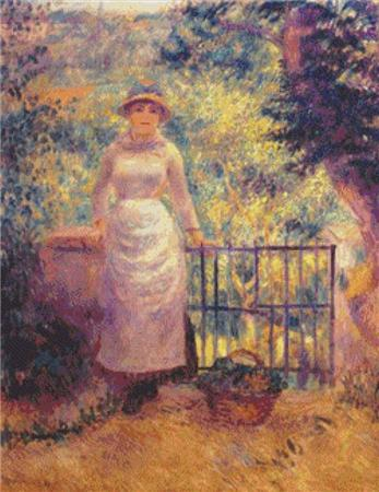 click here to view larger image of Aline at the Gate (Girl in the Garden) (chart)