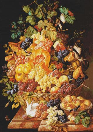 click here to view larger image of Basket of Fruit with Animals, A (chart)