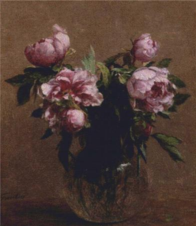 click here to view larger image of Vase of Peonies (chart)