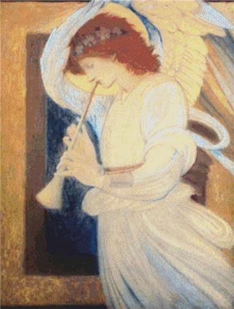 click here to view larger image of An Angel Playing a Flagelot (chart)