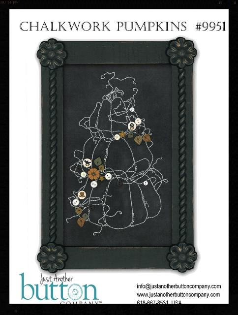click here to view larger image of Chalkwork Pumpkins Button Pack (pattern included) (button pack)