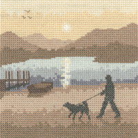 click here to view larger image of Sunset Stroll - Silhouettes (Aida) (counted cross stitch kit)