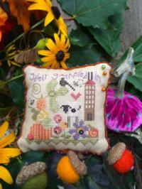 click here to view larger image of Safely Gathered Pin Cushion (counted cross stitch kit)