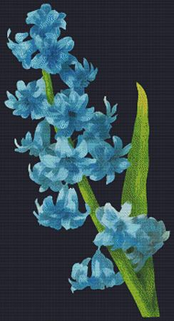 click here to view larger image of Blue Flowers (chart)