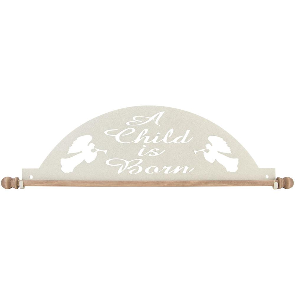 click here to view larger image of A Child Is Born Stucco Fabric Holder (accessory)