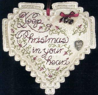 click here to view larger image of Christmas Heart (w/ Charms) (chart with charms/buttons)