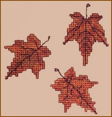click here to view larger image of Autumn Leaves Wall Quilt Block P (chart)