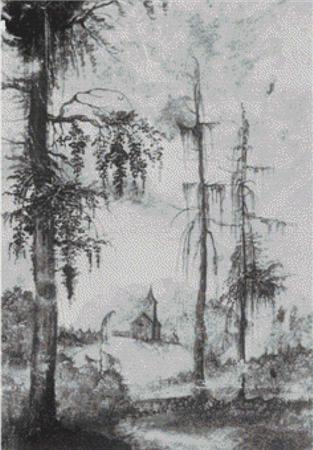 click here to view larger image of Alpine Landscape with Church (chart)