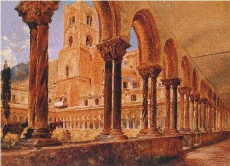 click here to view larger image of A View of Monreale, Above Palermo (chart)