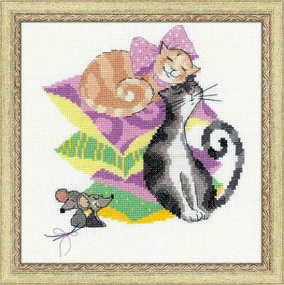 click here to view larger image of Cats & Mice (counted cross stitch kit)
