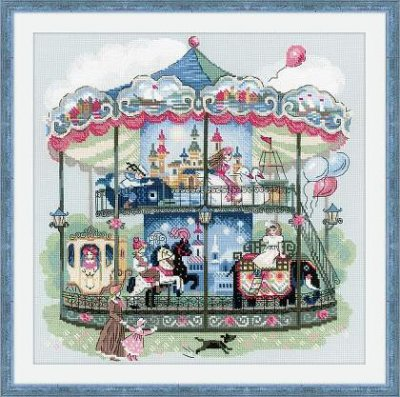 click here to view larger image of Carousel (counted cross stitch kit)