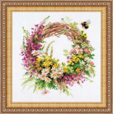 click here to view larger image of Wreath with Fireweed (counted cross stitch kit)