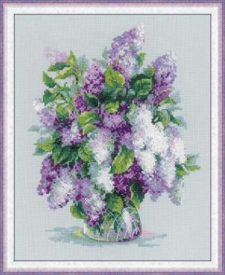 click here to view larger image of Gentle Lilac (counted cross stitch kit)