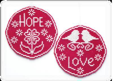 click here to view larger image of Circle Ornaments - Hope Love (chart)