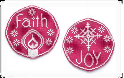 click here to view larger image of Circle Ornaments - Faith Joy (chart)