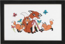 click here to view larger image of Foxes - Mom (counted cross stitch kit)
