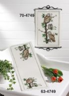 click here to view larger image of Owl Family Table Runner (bottom) (counted cross stitch kit)