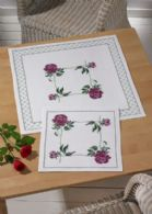 click here to view larger image of Peony Table Cloth (upper) (counted cross stitch kit)