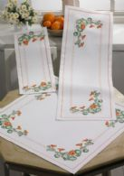 click here to view larger image of Flowers Table Cloth (bottom) (counted cross stitch kit)