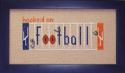 click here to view larger image of Hooked On Football (chart with charms/buttons)