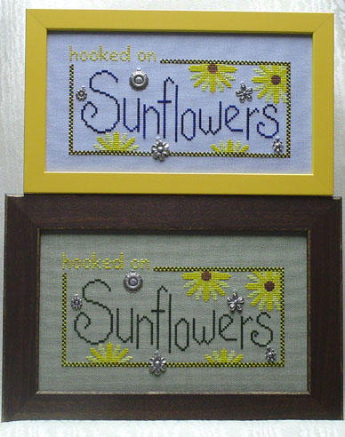 click here to view larger image of Hooked on Sunflowers (chart with charms/buttons)