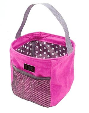 click here to view larger image of Tiny Tote - Pink and Black with Polka Dots (accessory)