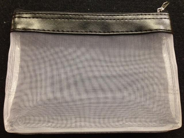 click here to view larger image of Mesh Bag with Vinyl Trim - Black (accessory)