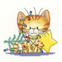 click here to view larger image of Christmas Tangle - Cats Rule (Aida) (counted cross stitch kit)