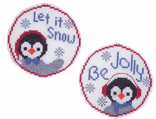 click here to view larger image of Circle Ornaments - Pair of Penguins (chart)