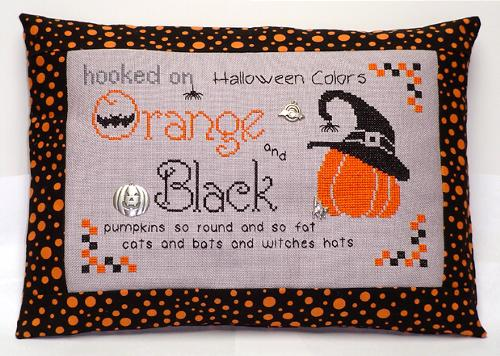 click here to view larger image of Hooked on Orange and Black (chart with charms/buttons)