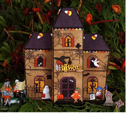 Gingerbread Haunted House - click here for more details about chart