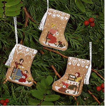 click here to view larger image of Gingerbread Stocking Ornaments (chart)
