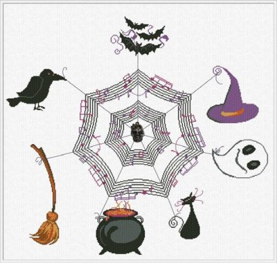 Halloween Concert (w/ charm) - click here for more details about chart with charms/buttons