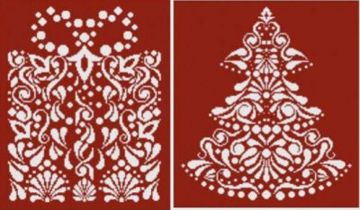 Christmas in White 1 (2 designs) - click here for more details about chart