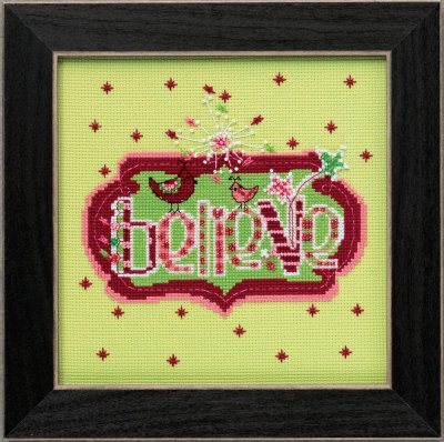 click here to view larger image of Believe - Amylee Weeks (counted cross stitch kit)