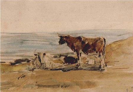 click here to view larger image of Cows Near the Shore (chart)