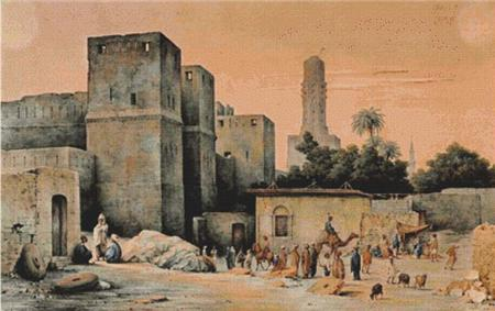 click here to view larger image of A View From Outside the City Gate, the Bab al-Nasr, in Cairo (chart)