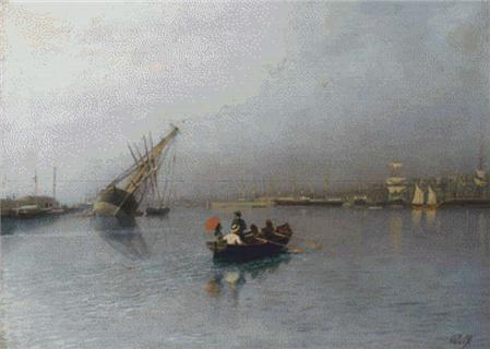 click here to view larger image of Harbor Scene (chart)