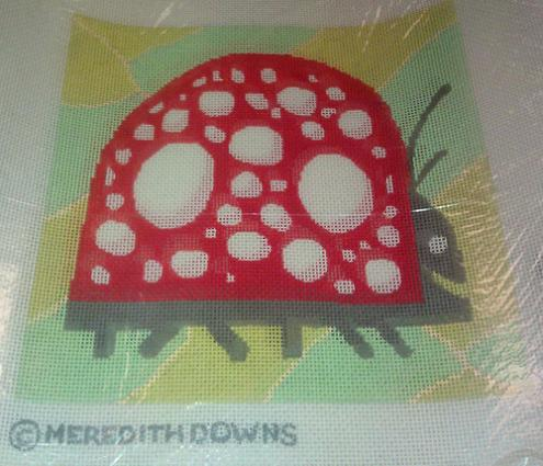 click here to view larger image of Ladybug (hand painted canvas)