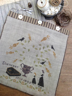 click here to view larger image of Mourning Tree Sewing Bag (chart)