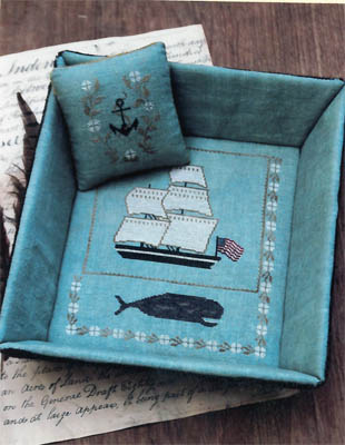 click here to view larger image of Whaling Ship Sewing Tray (charm)