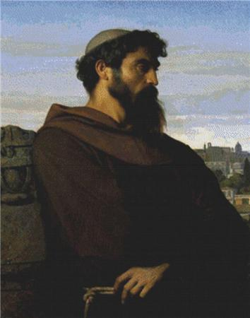 click here to view larger image of A Thinker, A Young Roman Monk (chart)
