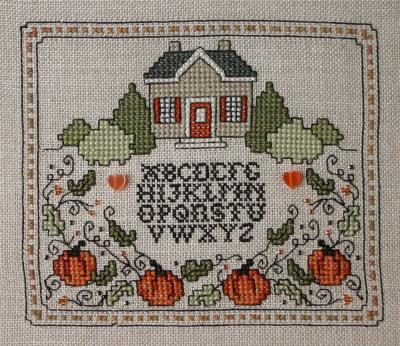 click here to view larger image of House on Pumpkin Hill (counted cross stitch kit)