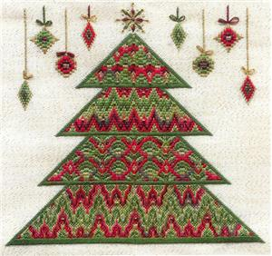 click here to view larger image of Bargello Christmas Tree (Includes Embellishments) (counted canvas chart)