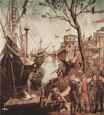 click here to view larger image of Arrival of St Ursula During the Siege of Cologne (chart)