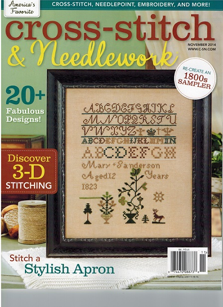 click here to view larger image of Cross Stitch & Needlework Magazine - November 2014 (magazines)