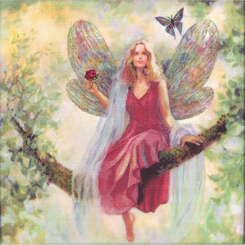 click here to view larger image of Summer Tree Fairy - Embellished Cross Stitch (embellished cross stitch kit)