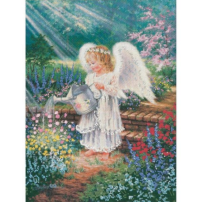 click here to view larger image of An Angel's Gift - Embellished Cross Stitch (embellished cross stitch kit)