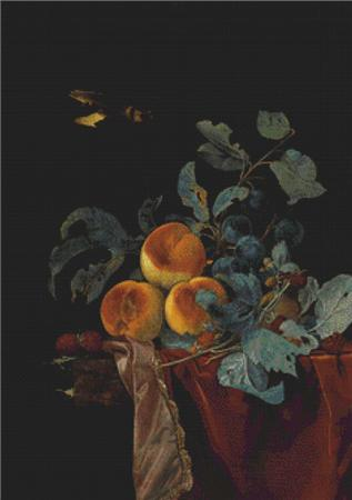click here to view larger image of A Still Life with Peaches, Raspberries, and Damsons (chart)